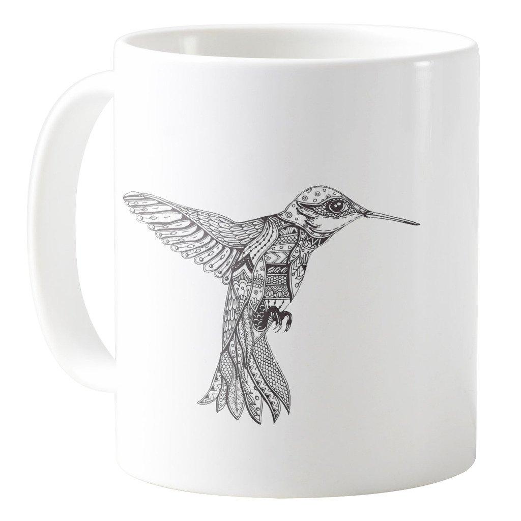 Coloring Page with Humming-Bird 11oz Ceramic Coffee Mug Tea Cup AquaSakura