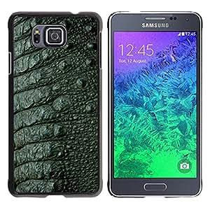 Qstar Arte & diseño plástico duro Fundas Cover Cubre Hard Case Cover para Samsung GALAXY ALPHA G850 ( Skin Texture Design Style Green Interior)