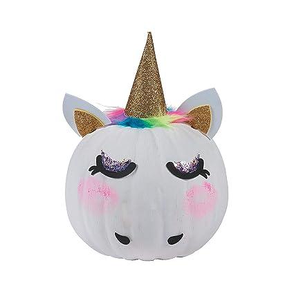 Fun Express Unicorn Pumpkin Decorating Kits Makes 6 Halloween Crafts For Kids