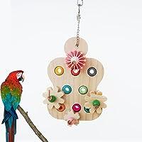 Bird Toys Bird Chewing Toy Parrot Toys Wood for Aquarium Reptile Tortoise Turtle Parakeet Cockatiel Conure Lovebird…