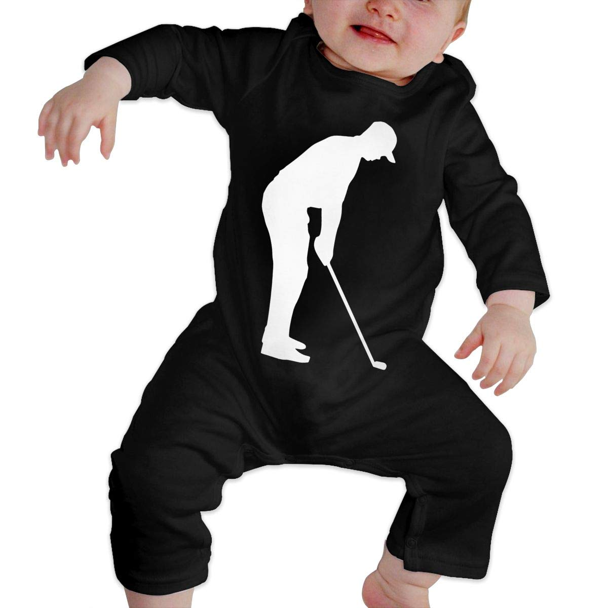 UGFGF-S3 Golfing Retro Sport Toddler Baby Long Sleeve Romper Jumpsuit Baby Clothes