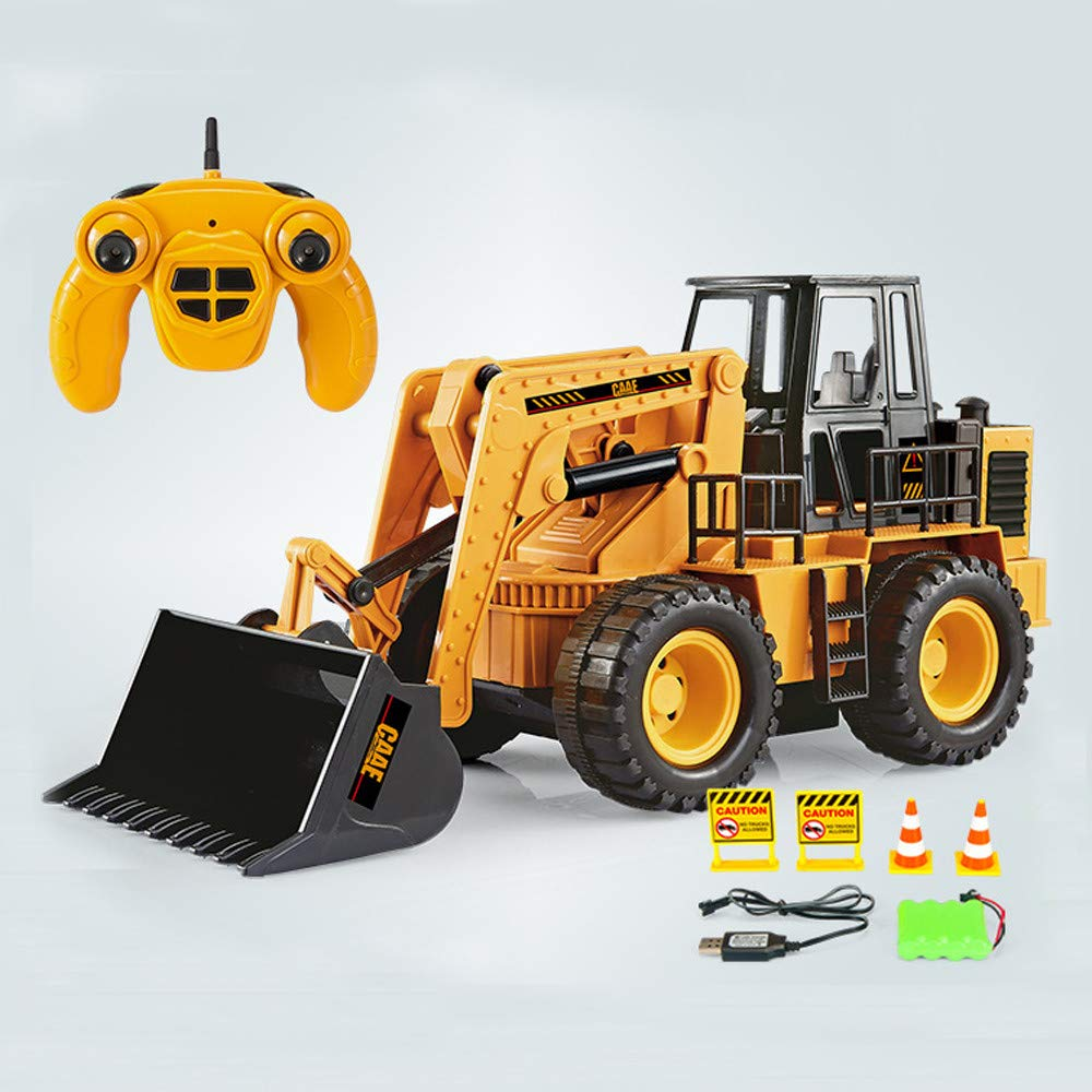 Amazon.com: LtrottedJ Wireless Remote Control Construction Bulldozer Truck Electric Toy and Music: Toys & Games