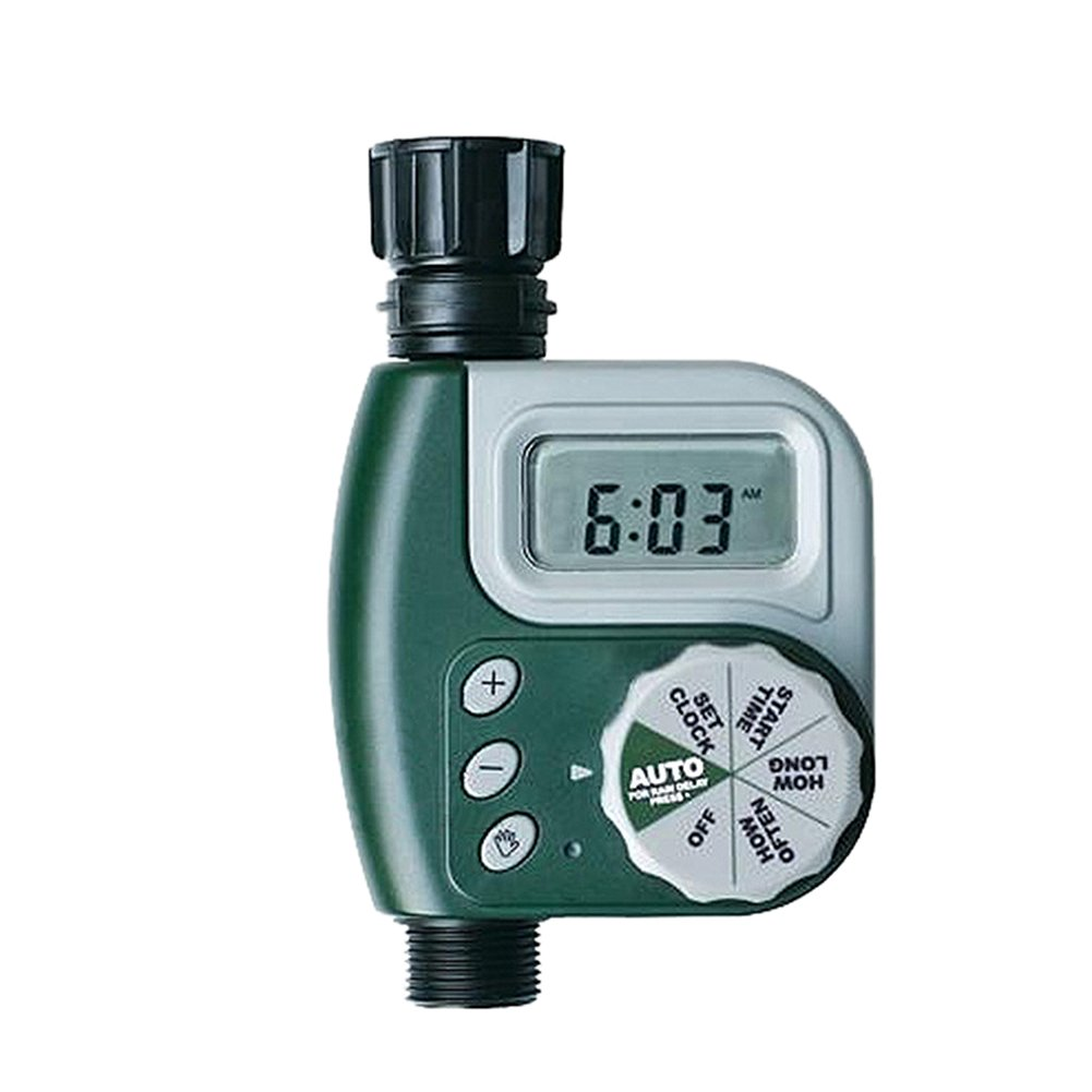 chendongdong Single Outlet Programmable Hose Faucet Timer Automatic Digital Garden Irrigation Controller Outdoor Solenoid Valve Timer Garden Automatic Watering Port Timer with Large LCD Screen
