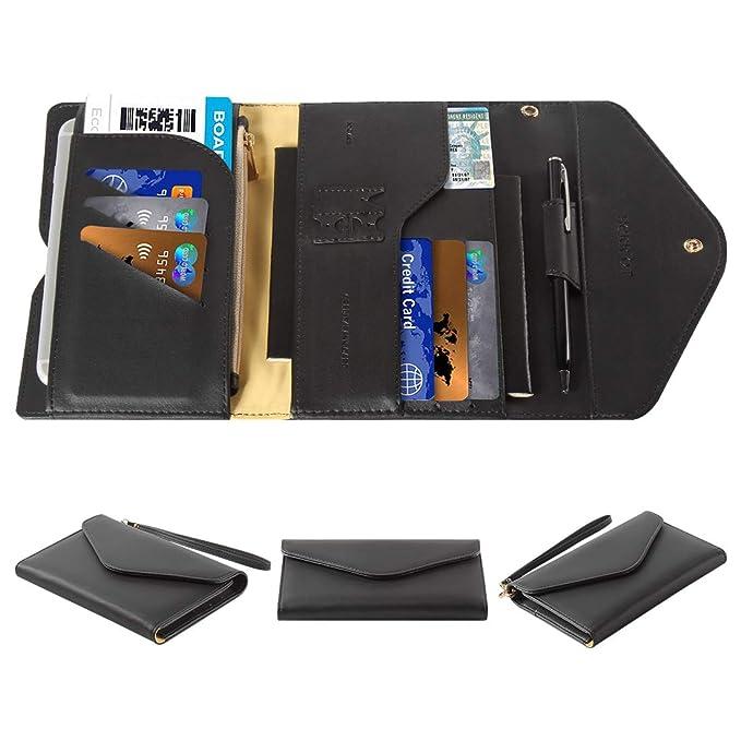 96462a532 Multi-purpose Travel Passport Wallet Holder RFID Blocking Tri-fold Card Case  Document Organizer