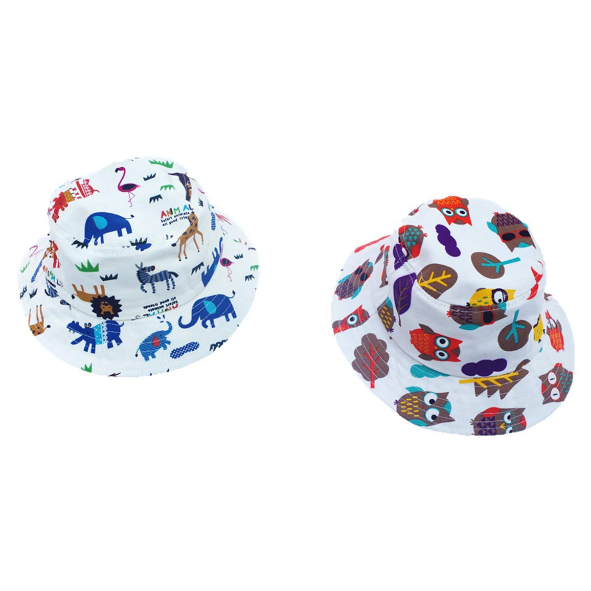 Toddler Boy Girl Bucket Reversible Sun Protection Hat Suitable for 2-8 Years Old Kids Bucket Sun-Hat Animal