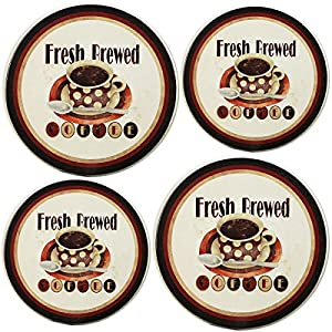 Reston Lloyd Electric Stove Burner Covers, Set of 4, Rooster Pattern