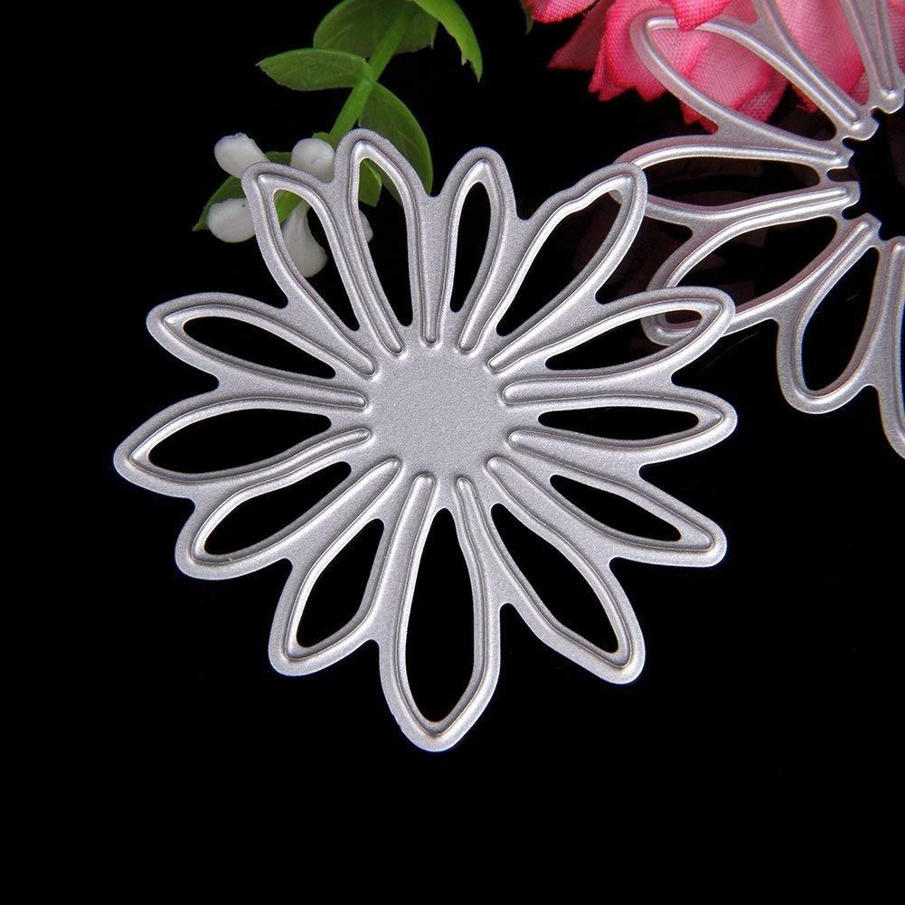 Delight eShop 6pcs Flowers Leaves Metal Cutting Dies Stencils Set For DIY Scrapbooking Photo Album Paper Card by Jugtech (Image #4)