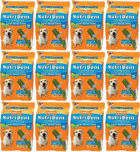 Nylabone Nutri Dent Complete, Large Chews Chicken Flavor ...