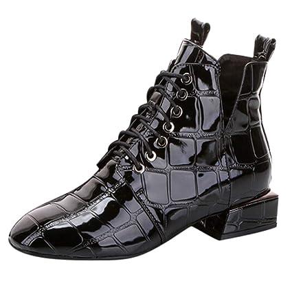 ZARLLE_Botas Botines para Mujer,ZARLLE Mujer Otoño Invierno Cálido Zapatos Mujeres De Moda Elásticas Botas