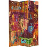 Oriental Furniture 6 ft. Tall India Double Sided Canvas Room Divider
