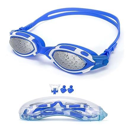 MAIMAI Swim Goggles Anti Fog UV Protection,with Ear Plugs.Nose Clip Swimming Goggles Adult Men Women Youth Kids Child Anti Fog UV Protection Ear Plugs.Nose Clip Swimming Goggles for Adult Men Women Youth Kids Child