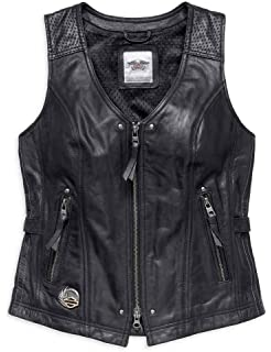 34382da6efcf Harley-Davidson Womens 115th Anniversary Limited Edition Leather Vest 98011- 18VW