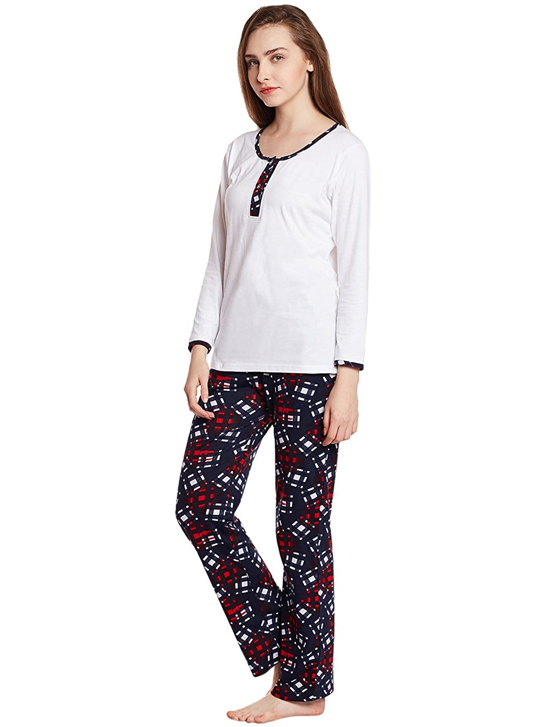 b83d225734 Claura Cotton Printed full sleeve Lower and Top (Night Suit Set ) (Medium)   Amazon.in  Clothing   Accessories