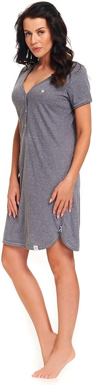 dn-nightwear Damen Umstandsnachthemd//Stillnachthemd Alina