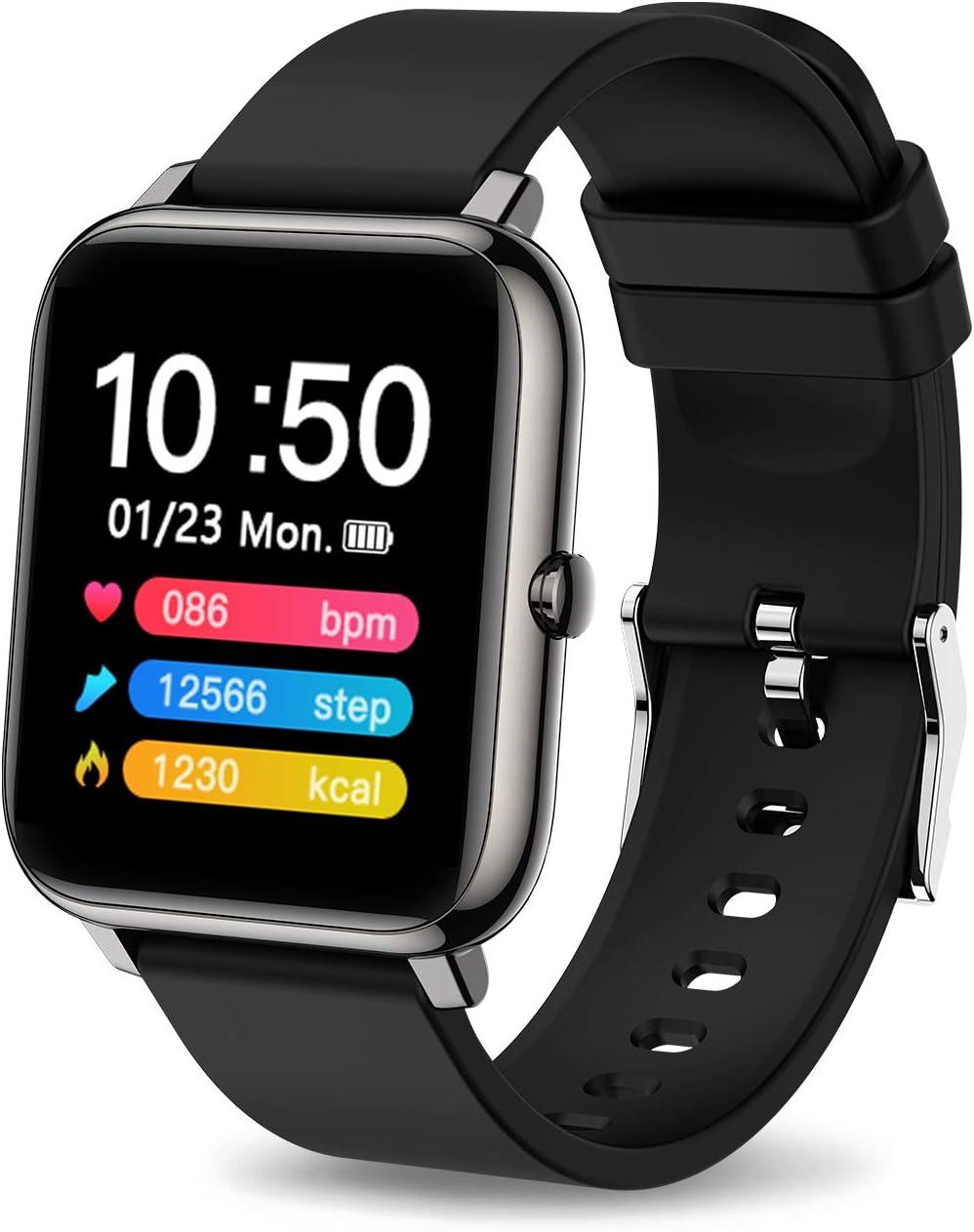 iporachx Smartwatch, Relojes Inteligentes Hombre Impermeable IP67 para Deportivo con Pulsómetro, Calorías, Monitor de Sueño, Podómetro Pulsera Actividad, Smart Watch Reloj Inteligente