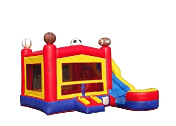 sports bounce house water slide combo wet or dry modular inflatable - Water Slide Bounce House