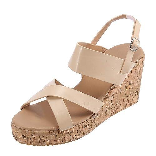Cinnamou Sandalias Mujer, Cuña Alpargatas Plataforma Bohemias Romanas Mares Playa Gladiador Verano Tacon Planas Zapatos Zapatillas: Amazon.es: Zapatos y ...