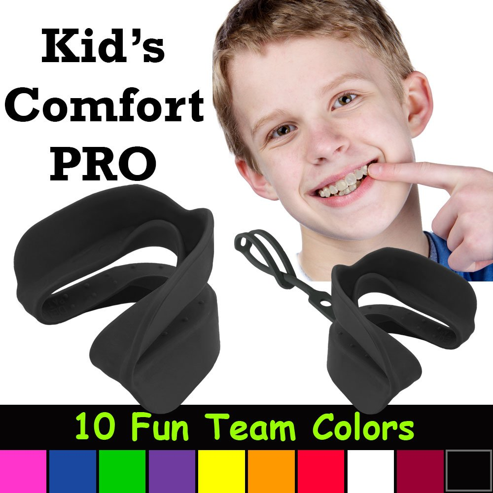 Kid's Comfort PRO Youth Double Sports Mouth Guard Works with or Without Braces