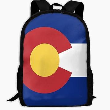 030a9e2ebbaf Amazon.com: ChunLei Child School Bag Flag Of Colorado Outdoor Travel ...