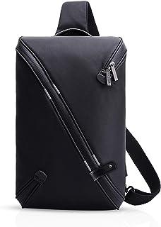 FANDARE Mode Sling Bag Sacs à dos Porté Crossbody Bag Voyage Hiking Bag Cycling Sac Bandoulière Trekking Déséquilibrer Porter des Hommes Poids Léger Imperméable Polyester Noir