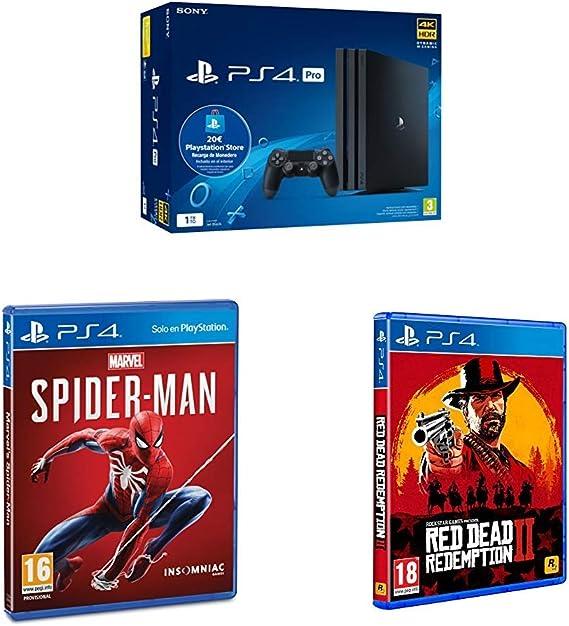 Playstation 4 Pro (PS4) - Consola de 1TB + 20 euros Tarjeta ...