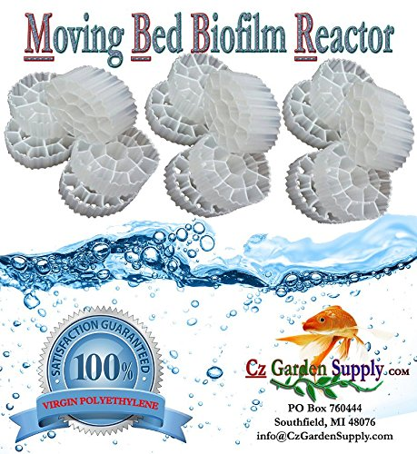 K3 Filter Media PREMIUM GRADE Moving Bed Biofilm Reactor (MBBR) for Aquaponics  Aquaculture  Hydroponics  Ponds  Aquariums by Cz Garden Supply