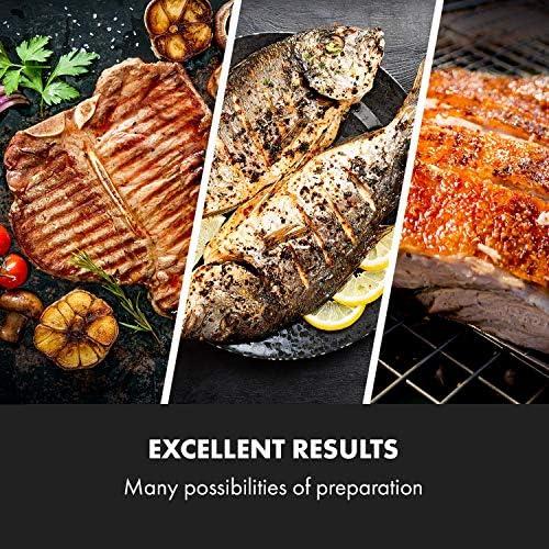 KLARSTEIN Sauenland Pro - Barbecue pour Cochon de Lait, Moteur électrique 15W, Différentes hauteurs, 4 grilles, Protection Contre Le Vent, CrystalSteel, 4 Roues, 2 Freins, Acier Inoxydable