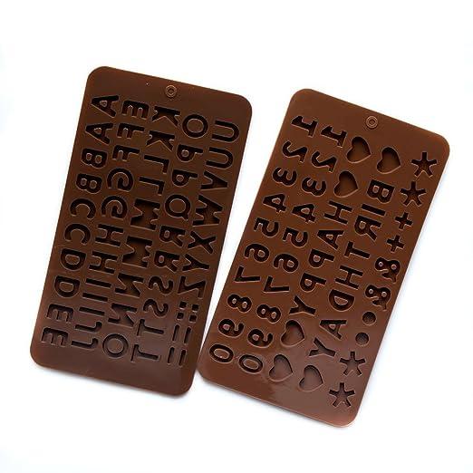 Nuannuan - Molde de letras y números de chocolate en 3D ...