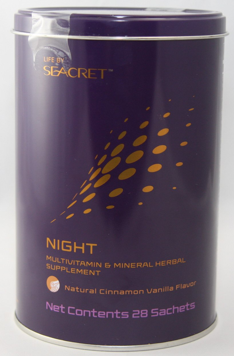 Life by Seacret Night Multivitamin and Mineral Herbal Supplement - Natural Cinnamon Vanilla Flavor - 28 Sachets