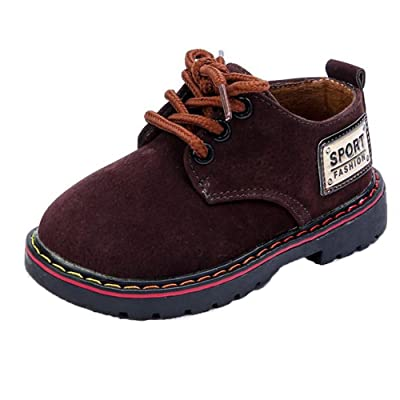 Auwer Children Shoes Fashion Baby Shoes Wear-Resistant Martin Boys Girls Shoes Toddler Kids Sneakers Shoes