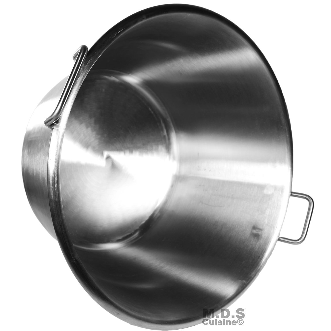 Large Cazo Stainless Steel 21'' Caso para Carnitas Gas Heavy Duty Wok Acero Inoxidable by M.D.S Cuisine Cookwares (Image #4)