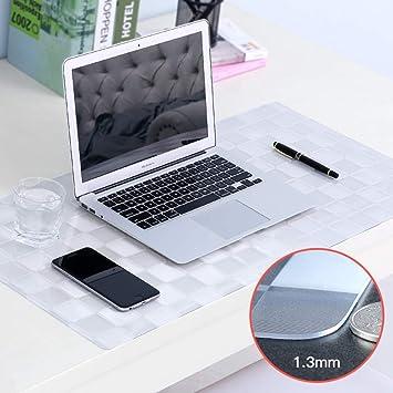 PVC Mate Mouse pad Impermeable, Teclado del ordenador portátil Escritorio protector de cojín Mantel de computadora Para juegos Escritura Trabajo-Verificador ...