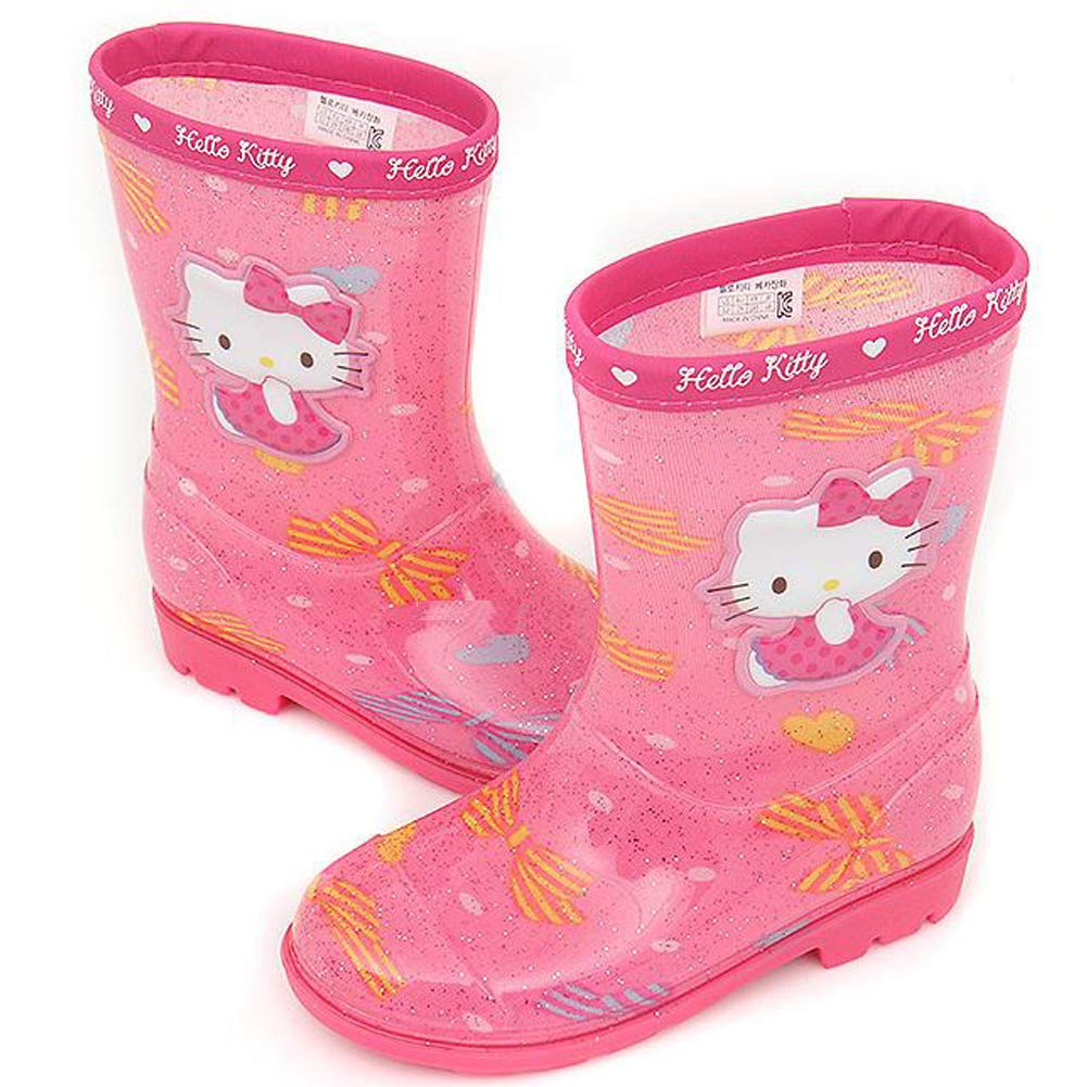 Parallel Import//Generic Product Toddler//Youth Joah Store Girls Pink Rain Boots Hello Kitty Shoes
