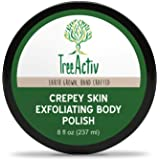 TreeActiv Crepey Skin Exfoliating Body Polish 8 fl oz Buffs Off Dead Skin Cells & Other Impurities Restores Firm & Glowing Skin Scrubs For Women & Men Made in USA Vegan