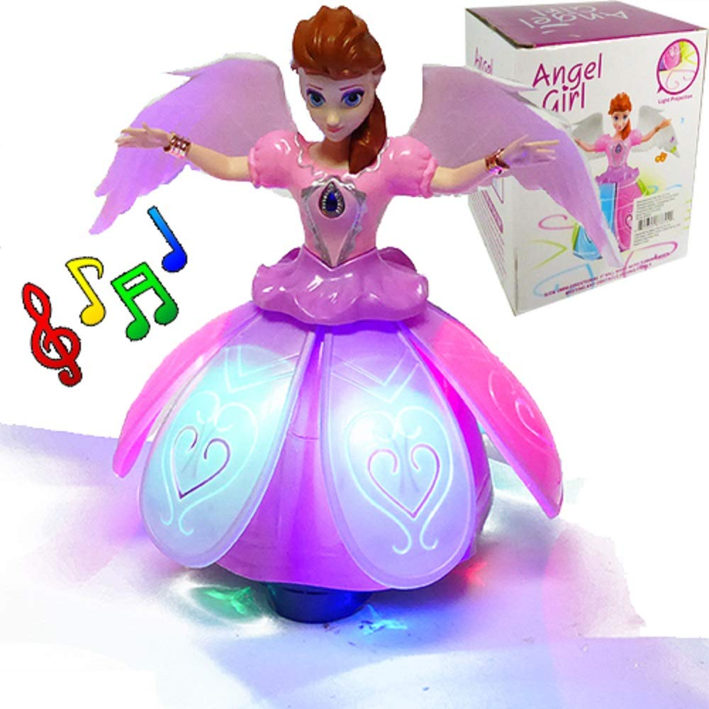 iGifts Inc. Girls Dancing Doll Fairy Robot Angel Toy w/ Spinning LED Lights & Music