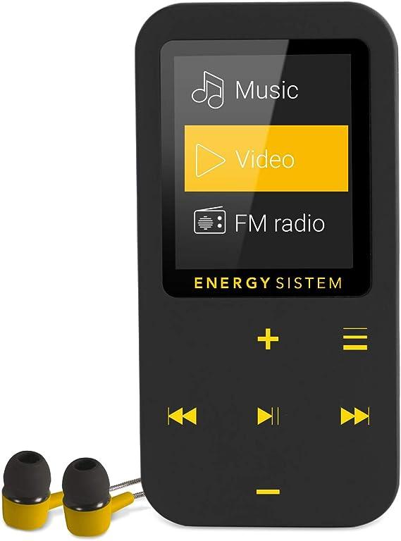 Energy Sistem Mp4 Touch Amber Player Mit Bluetooth Technologie 16 Gb In Ear Kopfhörer Fm Radio Microsd Schwarz Bernstein Audio Hifi