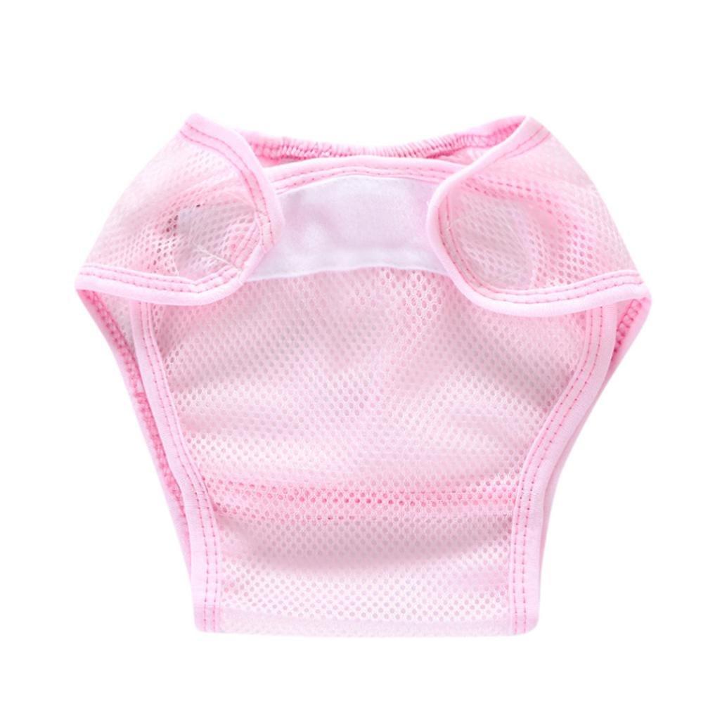 Xshuai® nouveau-né infantile bébé enfants solide Gaze Ventila Coton doux avec fermeture réglable couches lavables couches réutilisables à différents motifs