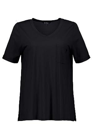 0db4478f97 Ulla Popken Große Größen Damen T-Shirt Shirt mit Stickerei und Brusttasche: Ulla  Popken: Amazon.de: Bekleidung