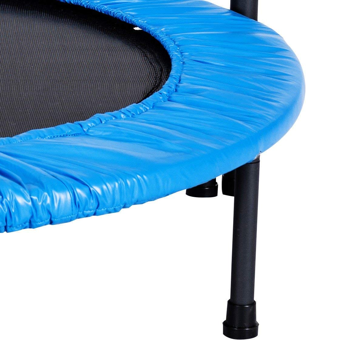 GYMAX Mini Trampoline, Rebounder Exercise Trampoline for Outdoor Indoor Fitness Workout, with Handle Rail by GYMAX (Image #6)