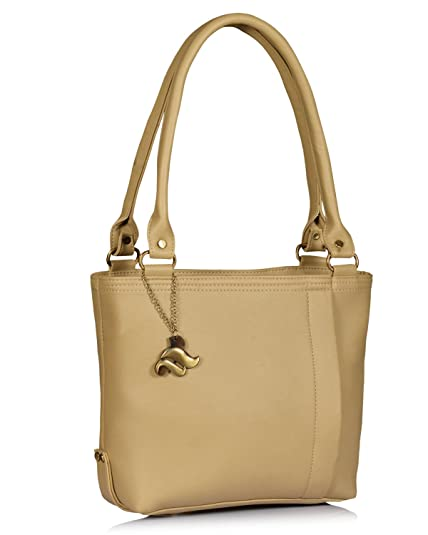 Fostelo Diana Women s Handbag (Beige)  Amazon.in  Shoes   Handbags 328854b77b684