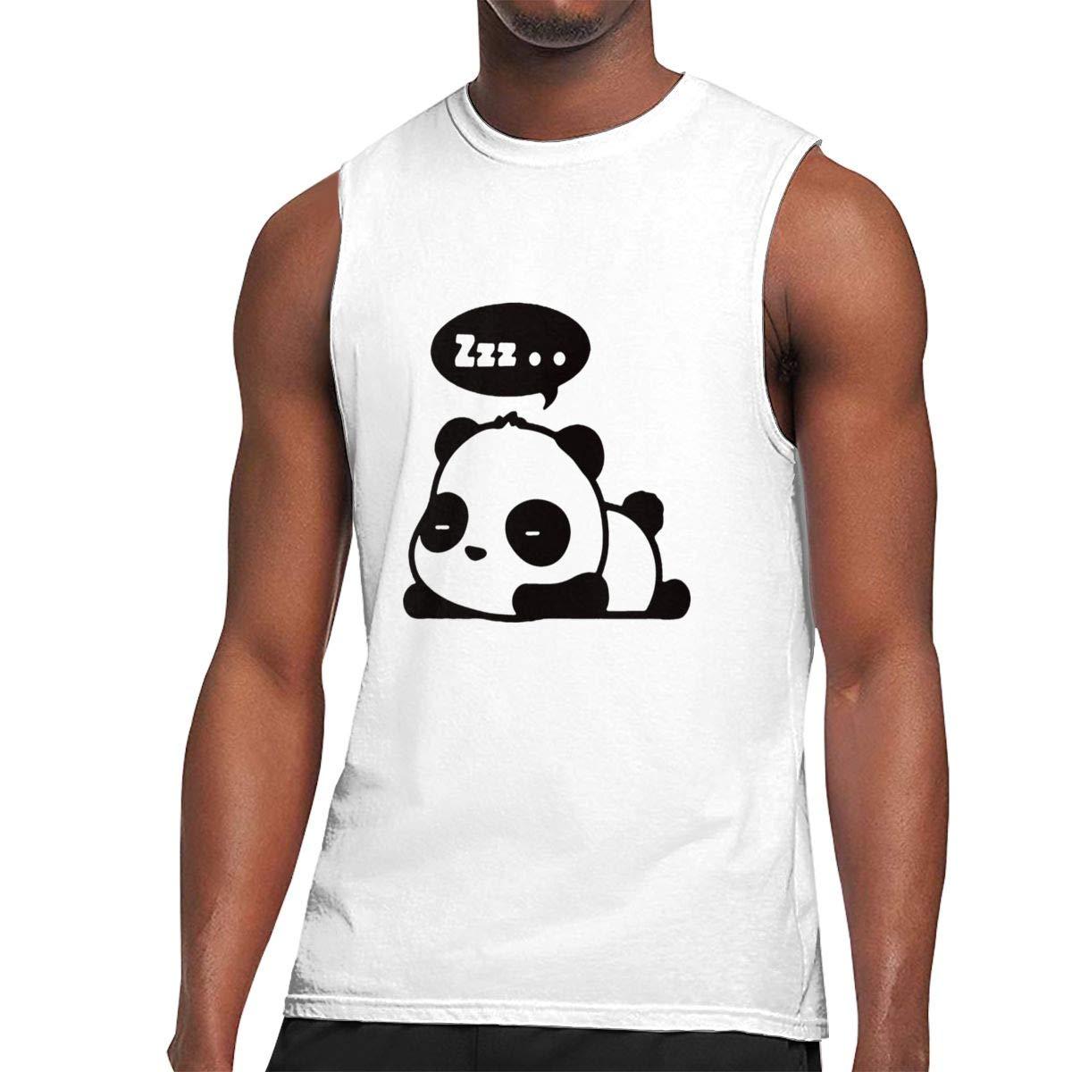 Seuriamin Sleeping Panda Cute Humor Outdoor Sleeveless Muscle Short Sleeve T Shirt