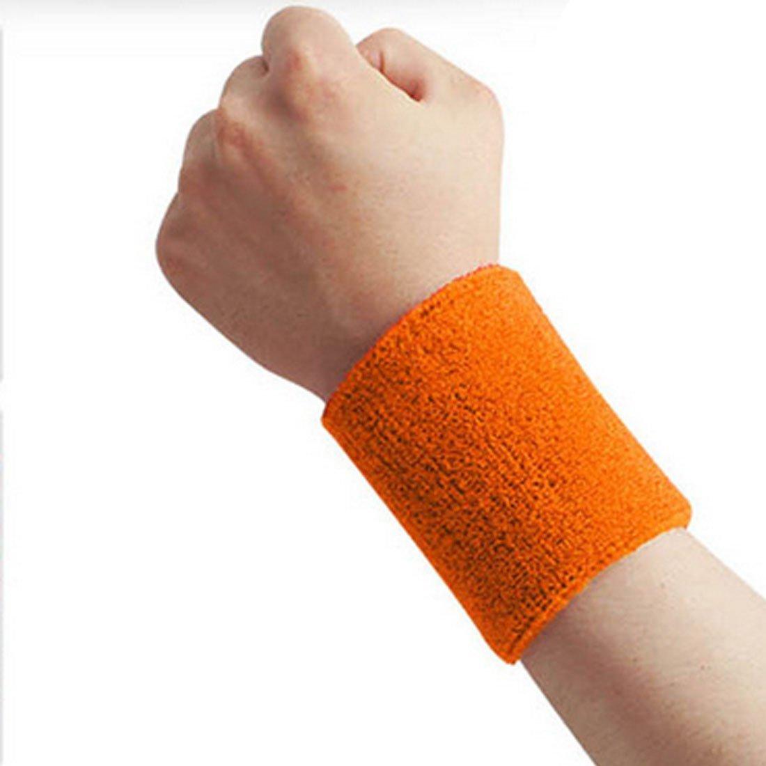 Hommes Femmes Sport Sweatband Tennis Squash Badminton /éponge poignet Sweat Bands Basketball Gym Wristband Wrist Wraps