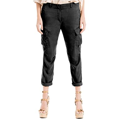 5aafc0a2250b3f Max Studio London Cuffed Cargo Pants at Amazon Women's Clothing store: