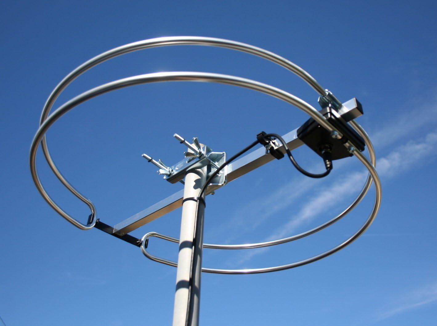 Antena FM Loop para exteriores, montaje en ático y RV FM