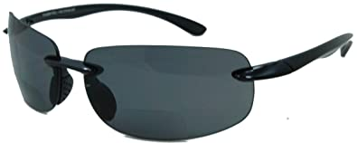 0f89d10e12 In Style Eyes Lovin Maui Wrap Polarized Nearly Invisible Line Bifocal  Sunglasses (black