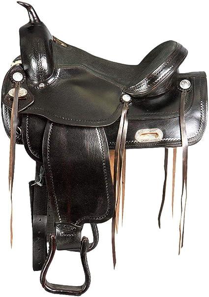 HILASON 16 in Western Horse Saddle Leather Trail Pleasure Riding