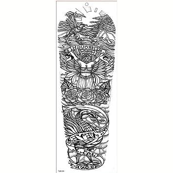 GHHCG Manga Larga Tatuaje Impermeable Etiqueta Engomada del ...