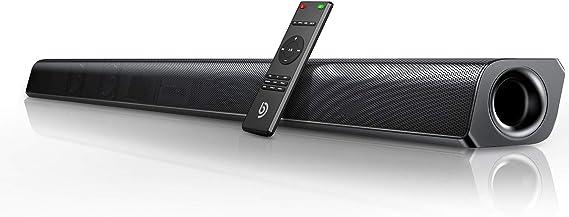 Barra de Sonido 2.0 Canales, BOMAKER Potencia 120 W, 110 dB, con Subwoofer Incorporado, Dispositivo Inalámbrico Bluetooth 5.0, para TV, Cine en Casa, HDMI Óptico, 3,5 mm AUX, USB, ODINE III: Amazon.es: Electrónica