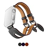 Apple Watch Double Buckle Cuff Band SUNKONG Soft Cuff Leather Apple Watch Band 38/42mm for Apple Watch Series 1 Series 2 and All Models