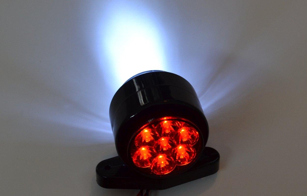 4/X c/ôt/é Outline 12/V feux de gabarit lamps van Camion caravane Ch/âssis pour camping-car Blanc Rouge